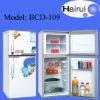 109L Double door refrigerator white