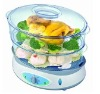 12.8L 1200W  2 Plastic Layers Food Steamer with CE/CB