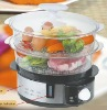 2 Plastic Layers Food Steamer with GS ETL