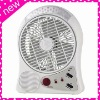 24 LEDS FM Radio Rechargeable Electric Fan