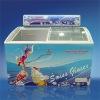 258L Glass Curved Door ice cream freezer