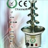 4 tiers 60cm stainless steel electric chocolate fondue fountain