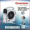 "6"" rechargeable fan with tube"