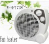 Adjustable thermostat electric fan heater