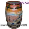 Barrel Refrigerator, Wooden Wine Cooler With Full Color