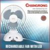 CR-1038B Rechargeable emergency light Fan