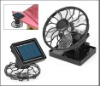 Clip-on Solar Sun Power Energy Panel Cooling Cell Fan
