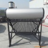 Color Steel Pressurized Vacuum Tube Solar Water Heaters with Assistant Tank
