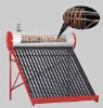 Copper coiler solar heating system