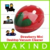 Cute Red Strawberry Mini Desktop Vacuum Cleaner Desk Dust Desktop Cleaner Vacuum