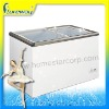 DL glass door freezer with aluminum alloy and stickers with CE