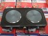 Double burner kitchen stove tops