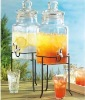 Glass Drink Dispenser with water faucet126