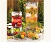 Glass Drink Dispenser with water faucet238