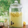 Glass Drink Dispenser with water faucet302