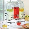 Glass Juice Dispenser with water faucet149