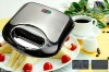 Grill/Portable 2-slice Sandwich toaster/maker with stainless steel surface