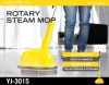 Home steam mop and floor polisher
