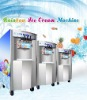 Ice cream machine with precooling system and rainbow