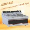(JSDF-685),counter top electric 2-tank fryer(2-basket)