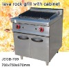 JSGB-789 lava rock grill with cabinet ,kitchen equipment