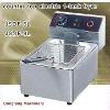 Latest design electric chicken fryer machine DF-6L counter top electric 2 tank fryer(2 basket)