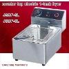 Latest design vacuum fryer DF-6L counter top electric 2 tank fryer(2 basket)