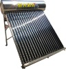 Manufacture Passive Unpressurized Color Galvanized Steel Solar Water Heater with Thermosyphon Vaccum Tubes