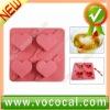 Red Heart Shape Ice Freeze Mold