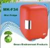 Red car fridge