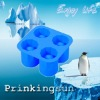 Round shape silicone covered ice cube tray