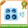 Silicone Shooters Ice Cube Tray Mold Shot Glass Freeze Maker