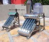 Solar water heater without assistant tank