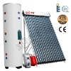 Split solar central heating system
