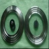 Stainless steel glass lid for frying pans
