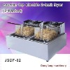 The largest exporter Electric Fryer counter top electric 2 tank fryer(2 basket)