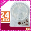 Urgent Disaster Supplies 24 LEDS Radio Fan/bladeless fan/electric fan