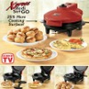 """Xpress Redi Set Go Indoor Grill with 2 Skillets """"Meals in Minutes"""""""