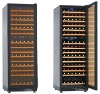 air cooling dual zone wine cooler cabinet