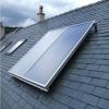 balcony wall hung of pressurized bule titanium flat pressurized solar water heater (80L)