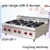 burner JSGH-997-1 gas range with 6-burner ,kitchen equipment