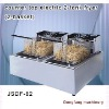 commercial electric fryer DF-82 counter top electric 2 tank fryer(2 basket)