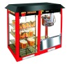 commercial popcorn machine with warming showcase