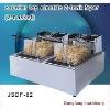 commercial pressure fryer counter top electric 2 tank fryer(2 basket)