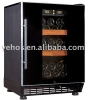 compressor wine cooler with full glass door