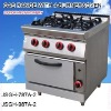 cooking equipment gas range with 4-burner and oven