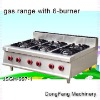 double burner gas range, gas range with 6-burner