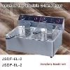 double fryer electric DF-6L-2 counter top electric 2-tank fryer(2-basket)