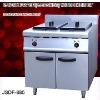 electric chicken pressure fryer, 2 tank fryer(2-basket) with cabinet