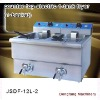 electric chip fryers DF-12L-2 counter top electric 1 tank fryer(1 basket)